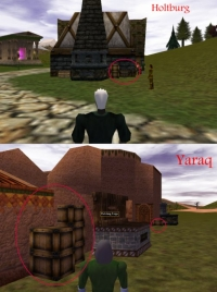 Barrels and crates in Asheron's Call