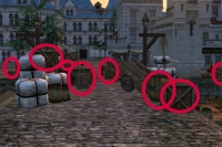 Barrels and crates in Bounty Bay Online