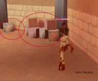 Barrels and crates in Dream of Mirror Online