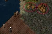 Barrels and crates in Ultima Online